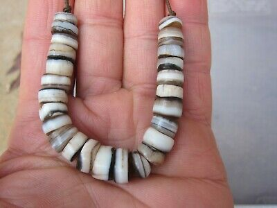 25 Very Rare Ancient Beads Indo - Tibetan Sulemani Chung Agate Bead - Necklace