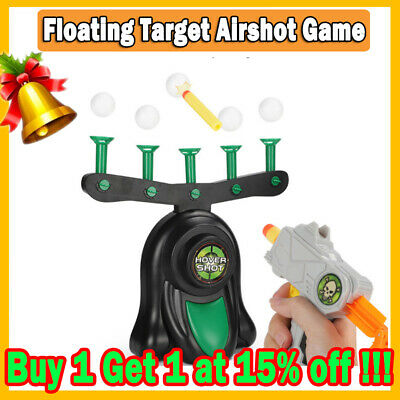 Electric Air Shot Hovering Ball Target Shooting Game Xmas Party Foam Darts Game*