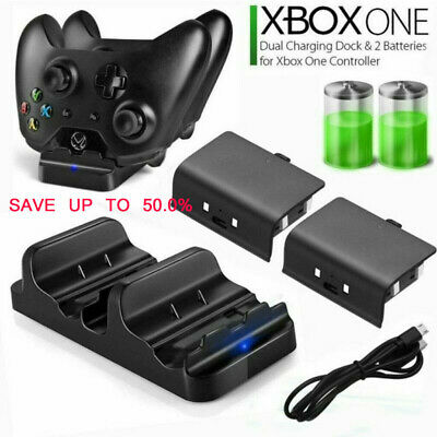 Dual Charging Station Dock Controller Charger+2Rechargeable Battery For Xbox One