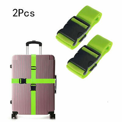 2x Travel Luggage Packing Belt Suitcase Strap Baggage Backpack Bag Straps