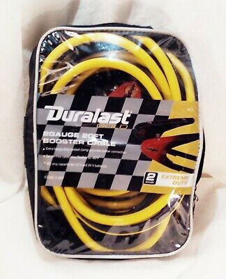 duralast 2 gauge 20 ft extreme duty booster cables excellent condition