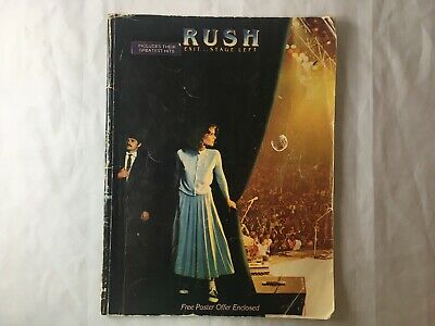 Vintage 1982 RUSH EXIT STAGE LEFT SHEET MUSIC BOOK Core Guitar Tabs Hugh Syme