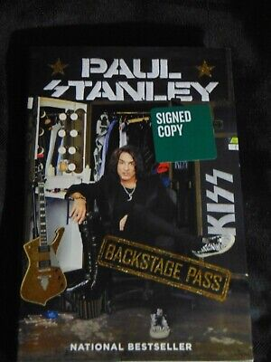 """Paul Stanley """"Backstage Pass"""" SIGNED 1st edition Kiss Rock Gene Simmons"""