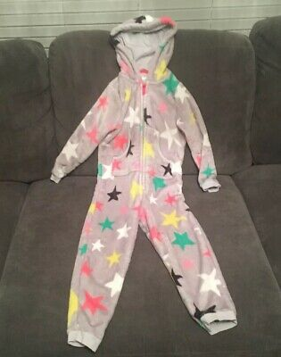 Girls M&S Star Fleece All in one Age 5-6.