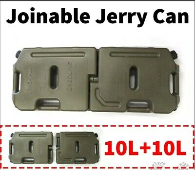NEW 2x10LT Jerry Can Joinable Fuel Container Spare 4X4 4WD Container Heavy Duty