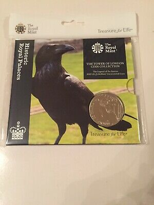 2019 Tower Of London £5 Five Pound Coin -Legend Of The Ravens Bu Rm Pack