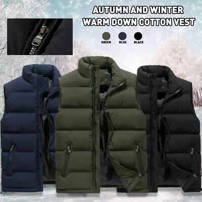 Mens Ex Chain Store Quality Puffer Winter Body Warmer Waistcoat Gilet Jacket