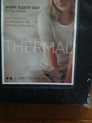 EXTRA WARM /& COSY BNWT M/&S PACK OF 2 LIGHT GREY THERMAL SLEEVELESS VESTS