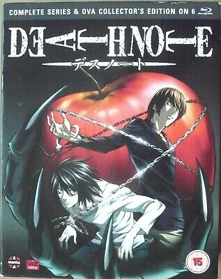 Death Note - Complete Series & Ova Collection(6 x Blu ray Box-Set) Episodes 1-37