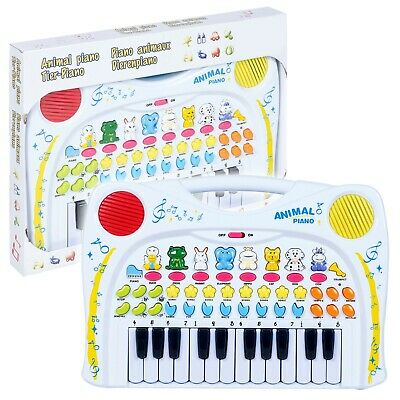 Kids Children's Animal Themed Piano Keyboard Musical Instrument Toy Pretend Play