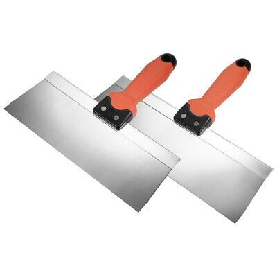 Putty Taping Paint Scrapers 10 12 Stainless Steel Edge + Plastic Handle 2in1 Set