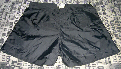 "Vintage Nylon football referee shorts BUKTA 38"" BLACK 1970s era"