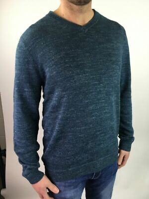 Mens Mantaray Debenhams Blue Cotton V Neck Jumper Sweater Small XXXL