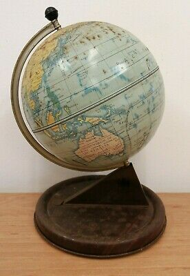 Chad Valley Tin Plate Globe - Needs some TLC (D5)