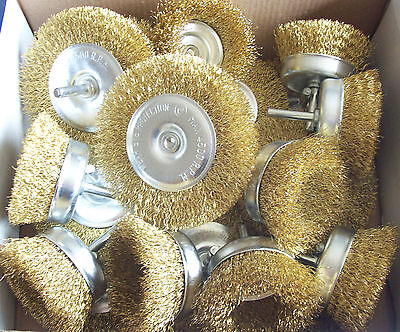 """20pc 4"""" WIRE WHEEL & 3"""" CUP BRUSH SET 11083 FOR DRILLS RUST & PAINT REMOVER"""