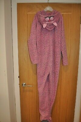 Girl's Pink Leopard PJ's All in One - Age 12 - 13 Years
