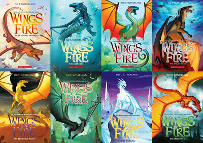 Brand NEW - WINGS OF FIRE Series Paperback Dragon Book Set 8 - Tui T. Sutherland