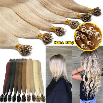 Top Grade 1G Nano Ring Micro Beads Real Thick Remy Human Hair Extensions UK H799