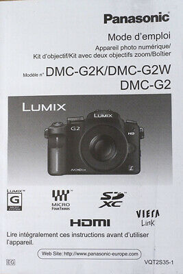 Panasonic G2 French Manual