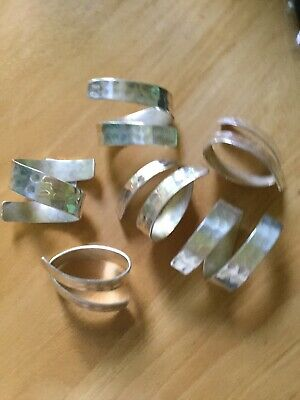 6 Silver Coloured Serviette Rings
