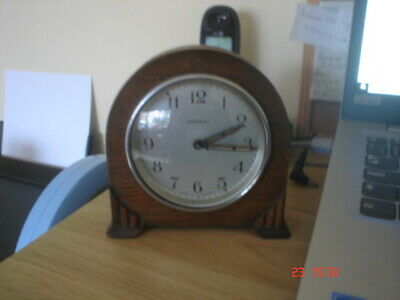 Ingersoll  Wind Up Alarm  Wooden Mantle Clock Working-Lovely Clock