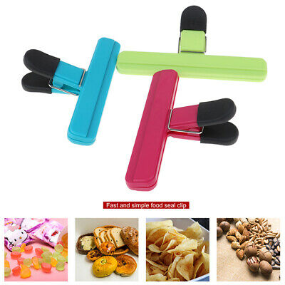 Portable Kitchen Storage Food Snack Seal Sealing Bag Clips Sealer ClampT Jf
