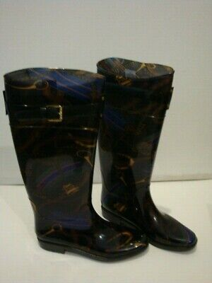Women's Lauren Ralph Lauren Rossalyn II  Knee High Rain Boots Black/Multi Size 8