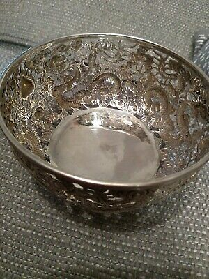 Antique chinese silver Decorative Dish