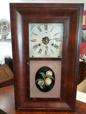 New England OG OGEE American ANTIQUE Jerome New Haven 30 HOUR , WALL SHELF CLOCK