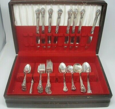 Gorham Chantilly Sterling Silver Flatware Set Service for 8 Plus extras 44 piece