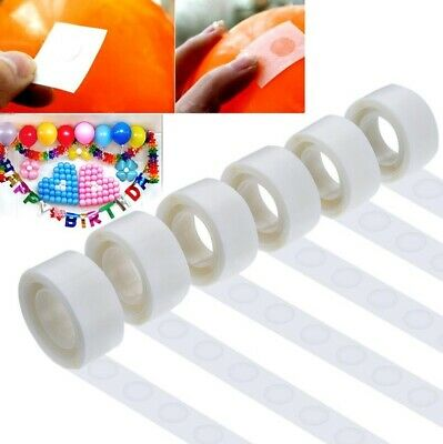 100-500 Adhesive Tape Double Sided Glue Dots Sticker DIY Air Balloon Decor Party