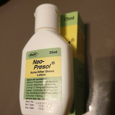 Neo-Presol Acne/Aftershave Lotion/Cream 25ml New.