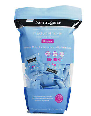 Neutrogena Makeup Remover 60 Cleansing Towelettes Travel Work Gym Face Skincare