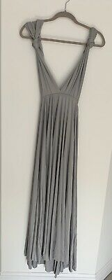 grey multiway dress. Bridesmaid. Ball. Size12. Worn Once