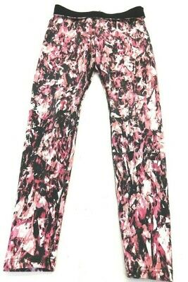 Nike Women's Black And Pink Cotton Blend Athletic Pants Size S