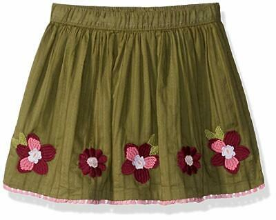 Nwt Gymboree Baby Girls Olive Embroidered Cotton Skirt Size 3T