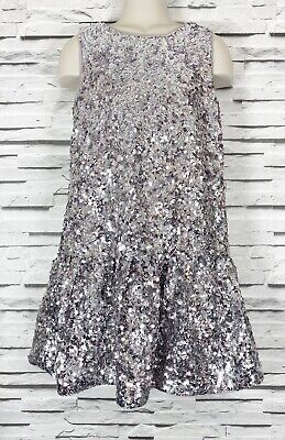 M&S Marks & Spencer Autograph Silver Sequin Dress 9-10 Christmas Party