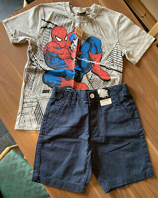 Next Boys Outfit Blue Jeans & Blue Spot Shirt 12 Years BNWT