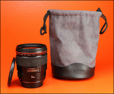 Canon EF 35mm F1.4 L USM  Prime Lens With Front & Rear Caps & Lens Bag