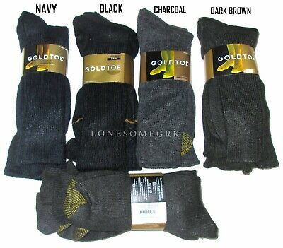 3 Pairs Mens Gold Toe Soft Acrylic Blend Medium Weight Dress / Casual Socks