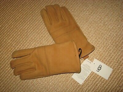 Lambert SW40PL Brown Suede Leather Gloves Sherpa Lined Large USA Made