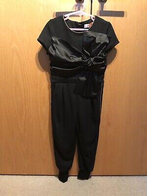 BNWT Ted Baker girls black playsuit with rose Gold Detail age 4-5 years