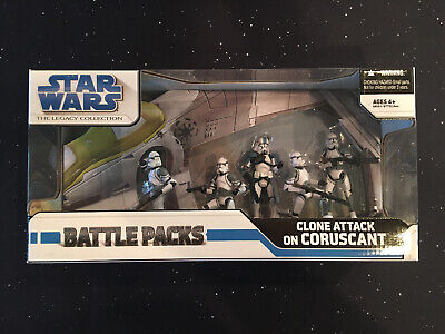 STAR WARS Clone Attack On Coruscant Battle Packs Legacy 2008