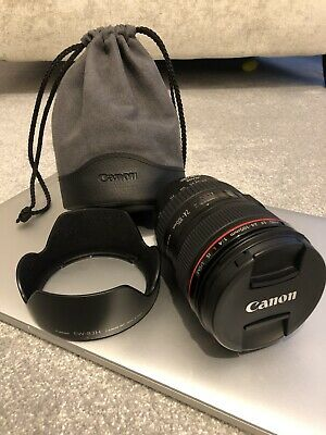 Canon L-series 24-105mm F/4 L IS USM Lens & Soft Pouch. Immaculate Condition