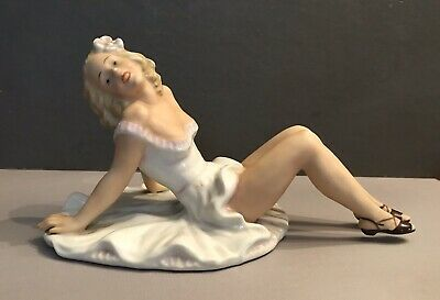 Vintage German Porcelain Pin Up Figurine Perfect