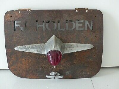 FJ Holden metal sign lights up