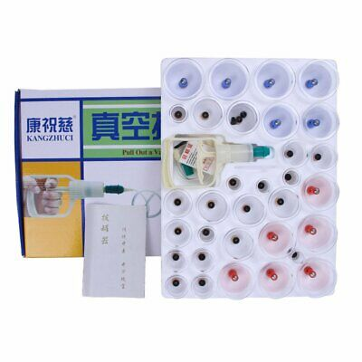 32 Cups Vacuum Massage Cupping Kit Acupuncture Suction Massager Pain Relief kl
