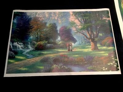 """Walk Of Faith"" By Thomas Kinkade 35.50"" X 22.25"" Canvas Print"