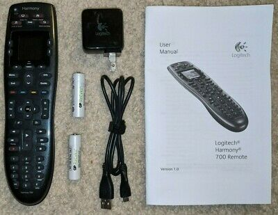Logitech Harmony 700 8-Device Universal Remote with Batteries, Cable, Adapter
