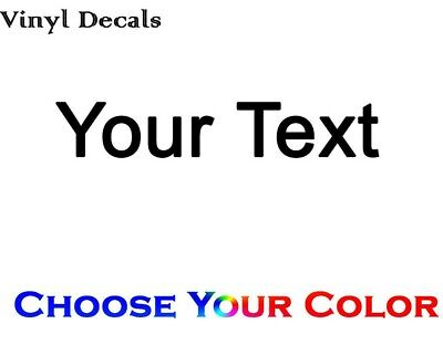 Custom Text Decal Make Your Own Text Vinyl Decal Sticker Personalized Decal